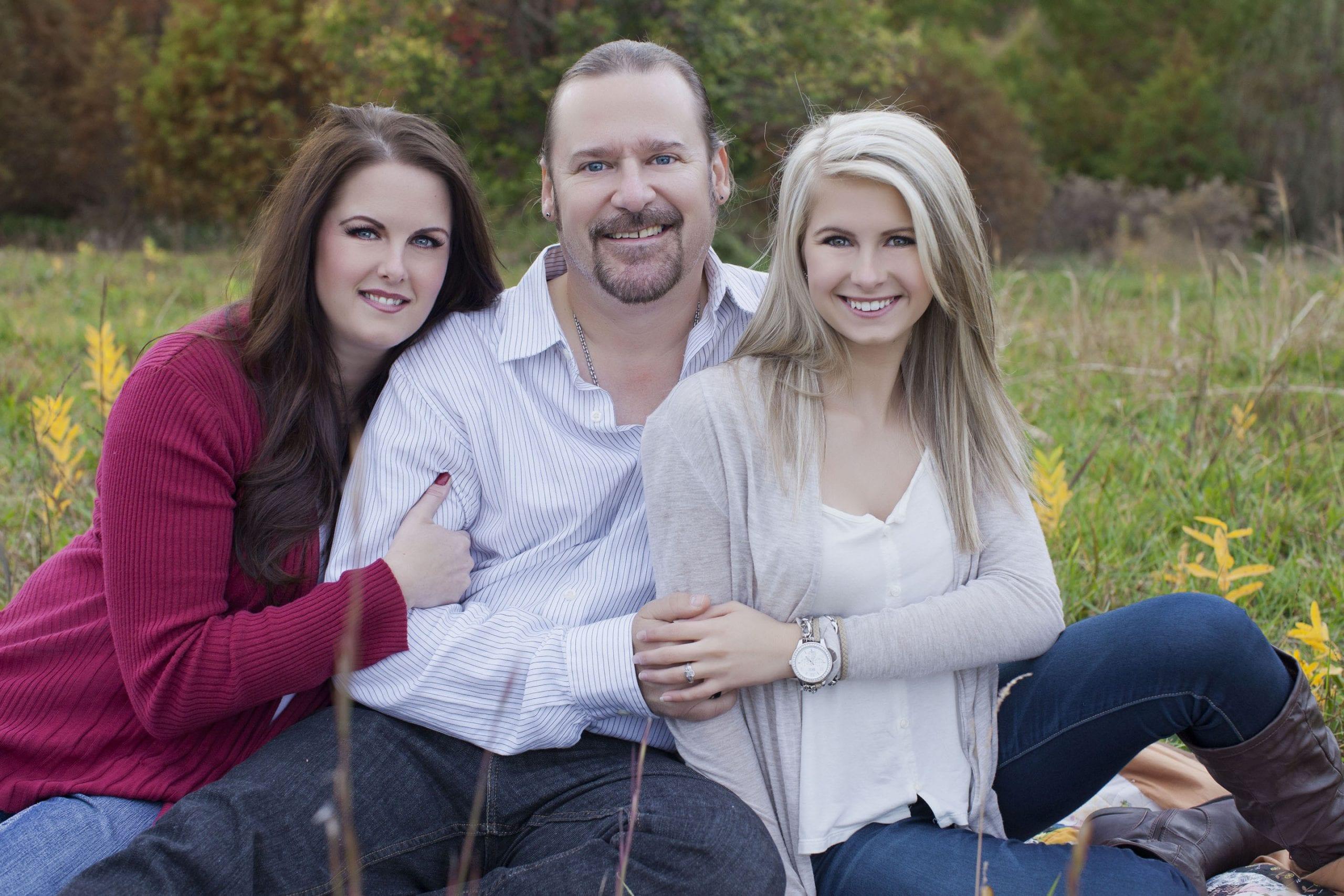 Family portrait, teen, parents